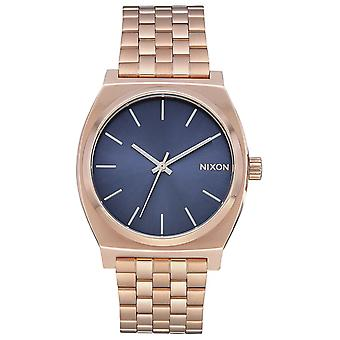Nixon time teller Japanese Quartz Analog Woman Watch with A0453005 Gold Plated Stainless Steel Bracelet