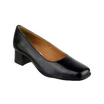 Amblers Femmes Walford Ladies Wide Fit Court Noir