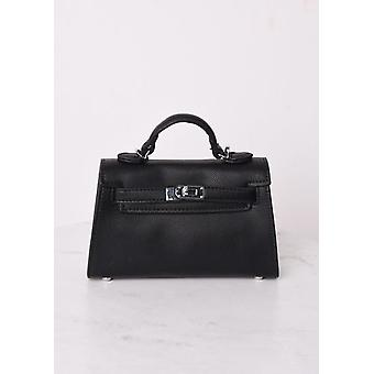 Borsa in pelle finta mini tote nero