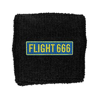 Iron Maiden Sweatband Flight 666 band logo New Official New Black Cotton