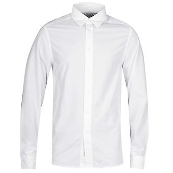 Calvin Klein Hidden Button Down White Poplin Shirt