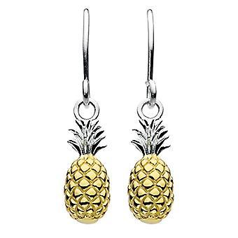 Dew tredimensjonale ananas-belagt anheng øredobber-i gullbelagt Sterling sølv