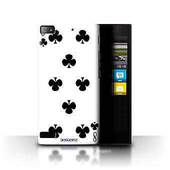 STUFF4 Case/Cover for Blackberry Z3/8 of Clubs/Playing Cards