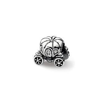 925 Sterling Silver Polerade reflektioner Pumpa Vagn Vagn Pärla Charm Hänge Halsband Smycken Gåvor för Kvinnor