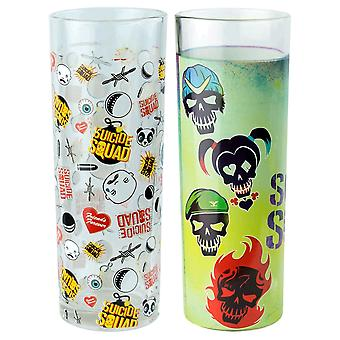 Suicide Squad Skulls and Pattern Tumbler Set of 2