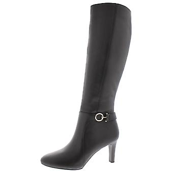 Bandolino Womens Lella Almond Toe Knee High, Cuir noir, Taille 11.0