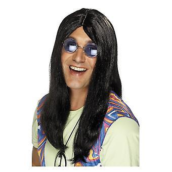 Mens Neil hippie pruik Fancy Dress accessoire