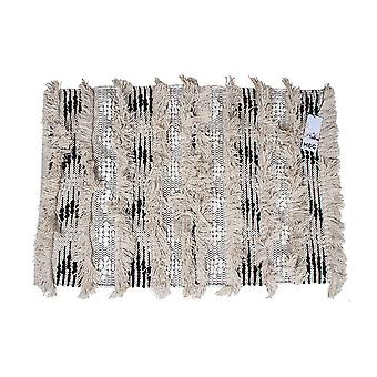 Cotton Hand Knit Rug Fringe
