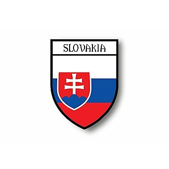 Sticker Sticker Sticker Motorcycle Car Blason City Flag Slovakia Slovak
