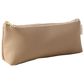 Cappuccino slanke make-up tas