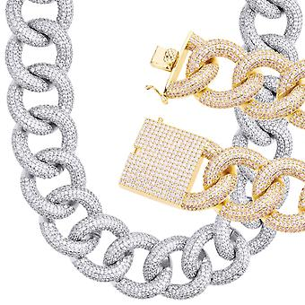 Iced Out Bling Zirconia Armor Chain - MESMERIC Cubain 25mm