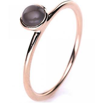 Gemstone Ring Moonstone 0.4 ct. Size 54
