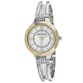 Anne Klein Damen's Klassische Silber Zifferblatt Uhr - AK-2735SVTT