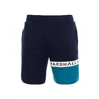 Marshall artist Navy & Teal logo Jersey scurt