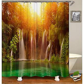 Sunset Over The Hidden Lake Shower Curtain