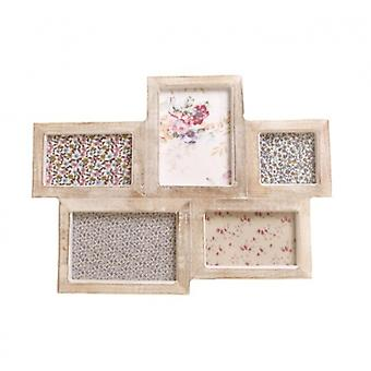 Sass and Belle Chunky Wood Shabby Chic Multi Photo Frame