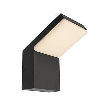 LED wandconstructie lamp Tucanae 16W 3000K 140x219mm donker grijs aluminium