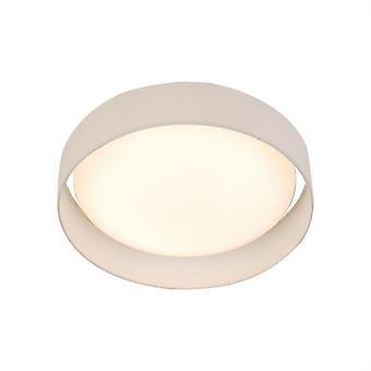 Searchlight Gianna Integrated LED 1 Light Flush Ceiling Light White 9371-50WH