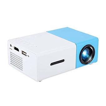 Salange YG300 LED Projector & Tripod - Mini Beamer Home Media Player Blue