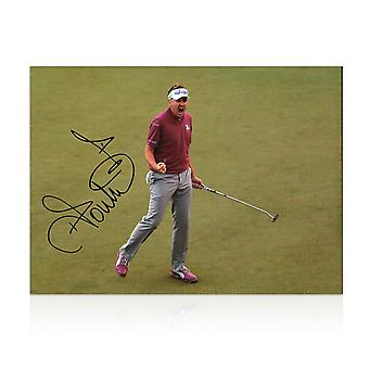 Ian Poulter Signed Photo: Birdie On The 17th