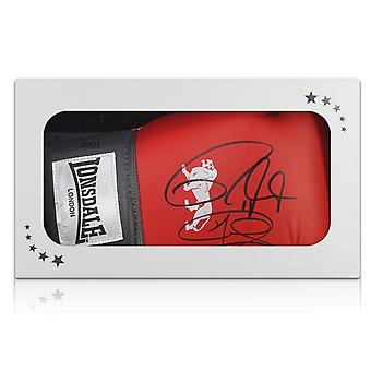 Joe Calzaghe And Roy Jones Jr Signed Boxing Glove In Gift Box
