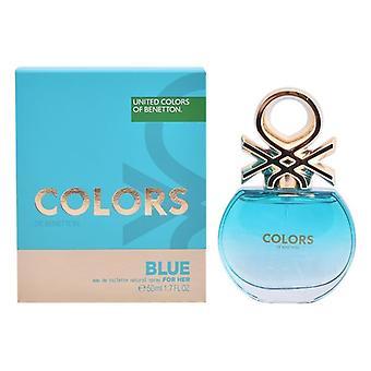 Naisten ' s haju vettä värit sininen Benetton EDT (50 ml)