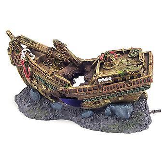Rosewood Blue Ribbon Shipwreck Bubbler Ornament
