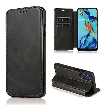 CaseGate phone case case cover for Huawei P30 Pro case cover - magnetic clasp, stand function and card compartment