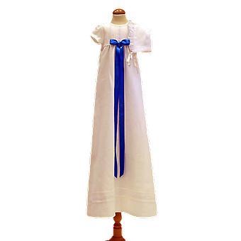 Dopklänning Och Dophätta, Turkos Bred Rosett. Grace Of Sweden