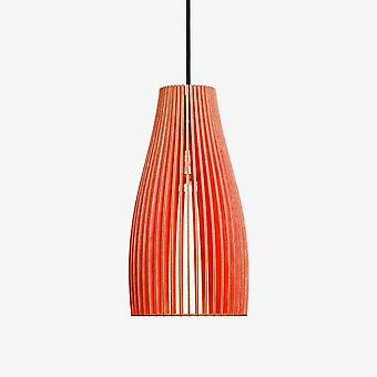 Iumi Ena Cone Shaped Plywood Pendant Lamp - Red