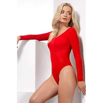 Läpinäkymätön Bodysuit aikuisten punainen