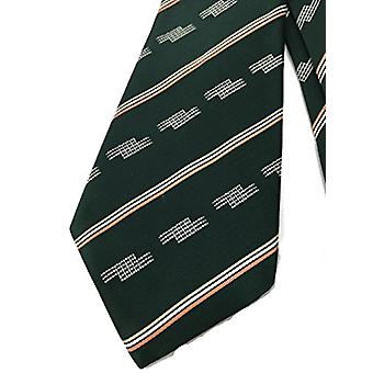 Abstract Stripes Mod Tie - Vintage Jacquard Weave Wide, Green, Size One Size