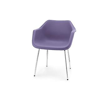 Hille Lavande Robin Day fauteuil en plastique