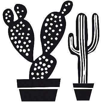Square CACTI Rubber Stamp Craft Scrapbook DIY Gift Tag Cards
