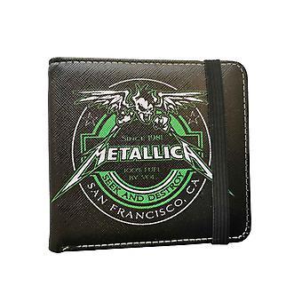 Metallica Wallet Busca y Destruye el logotipo de la banda de combustible nuevo Bifold Negro Oficial