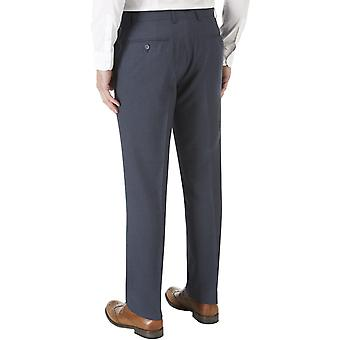 Skopes Mens Sharpe Big Tall Flat Front Straight Leg Formal Suit Trousers - Blue