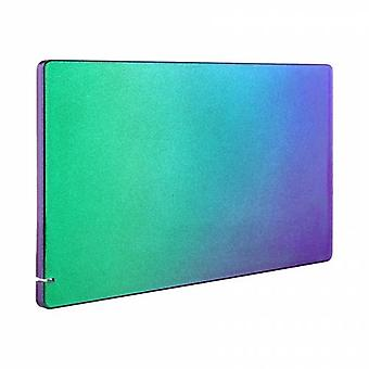 Faceplate shell for nintendo switch charging dock glossy replacement cover - chameleon purple green blue | zedlabz
