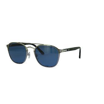 Cartier Décor CT0012S 003 Ruthenium/Blue Sunglasses