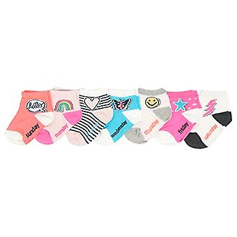 OshKosh B'Gosh Little Girl Quarter Crew Socks (7 Pack), Days of the Week - Em...