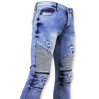 Spijkerbroek - Biker Jeans Skinny -  Blauw