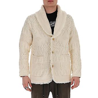 Alanui Lmhb002s2008900101 Men's White Cotton Cardigan