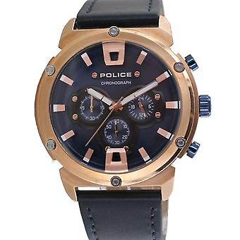 Police Herren Uhr Armbanduhr Leder Analog Amor II PL15047JSR.03