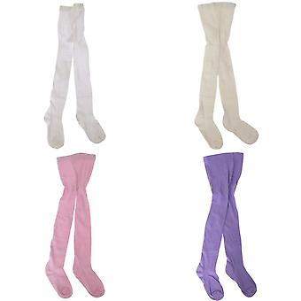 Kids Girls Plain School/Casual Cotton Rich Tights