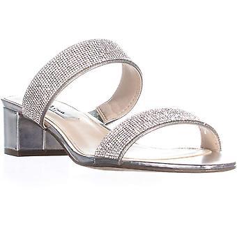 Nina Womens Georgea Peep Toe Casual Slide Sandals
