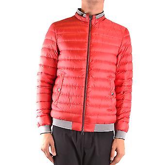 Herno Ezbc034057 Men's Red Nylon Outerwear Jacket