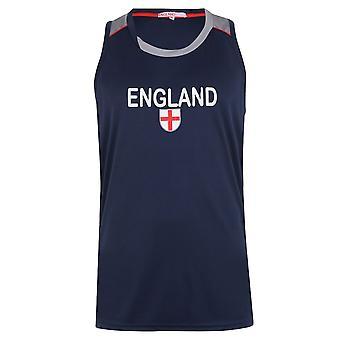 Team Mens England Vest Tank Tee Top Round Neck Sleeveless