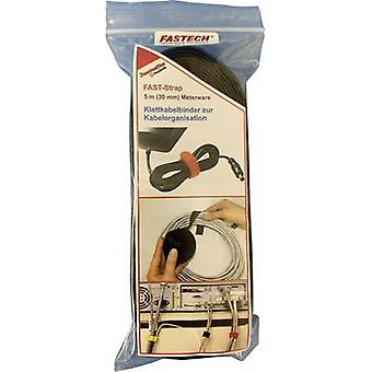 FASTECH® 698-330-Bag Cinta de gancho y bucle para la agrupación Gancho y almohadilla de bucle (L x W) 5000 mm x 30 mm Negro 5 m