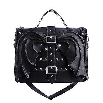 Restyle - bat wings bag - gothic black satchel
