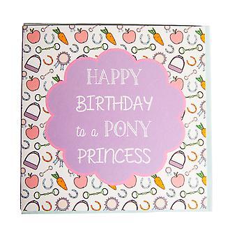 Gubblecote Pony Princess Birthday Card