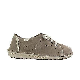 On Foot Basket 20602 Grey Nubuck Leather Womens Slip On Shoes